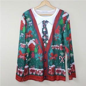 Ding Ge Fu Shi Ugly Christmas Shirt